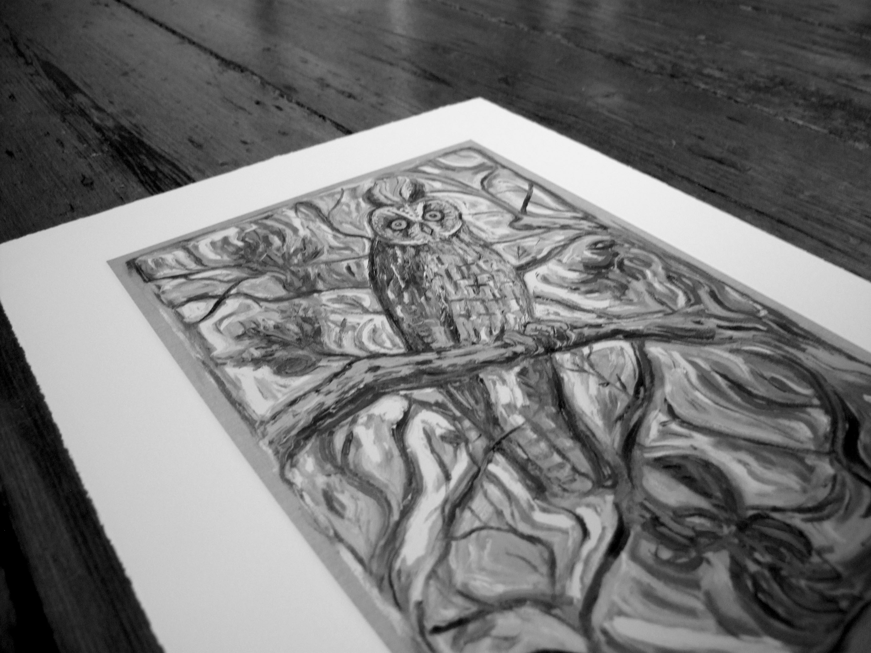 Laughing Owl by the wonderful Mr Billy Childish  ac6e6ab13c079